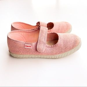 Cienta Light Pink Sparkle Mary Jane Girls Shoes 34